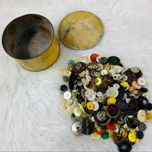 Container Full of Vintage Buttons